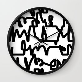 Graphic Scribble Wall Clock