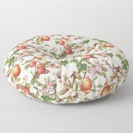 botanical fruits Floor Pillow