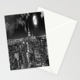 New York Under the Moon Stationery Cards