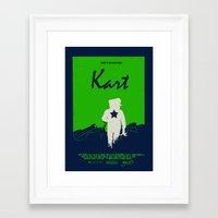mario kart Framed Art Prints featuring Kart by Samiel