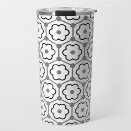 Floral Graphene - White - Gray - Black Travel Mug