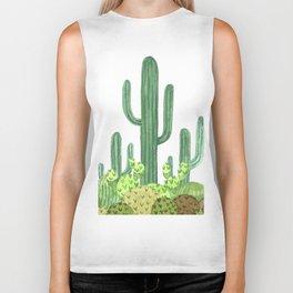 Desert Cacti on Black Biker Tank