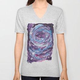 Galaxy of Spirals Unisex V-Neck