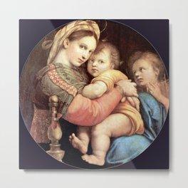 Raphael's Madonna della Sedia 1518 Metal Print