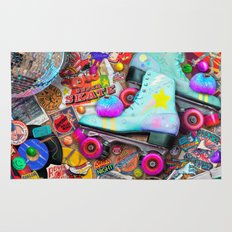 Super Retro Roller Skate Night Rug