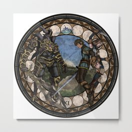 Final Fantasy XI Stained Glass Drawing  Metal Print