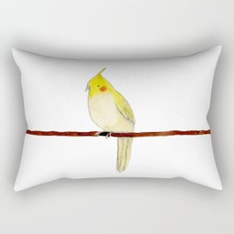 Yellow Cockatiel Rectangular Pillow