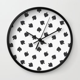 Playing cards spades suit Wall Clock