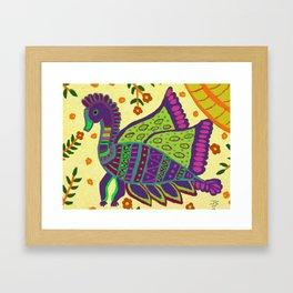 The Royal Peacock Framed Art Print