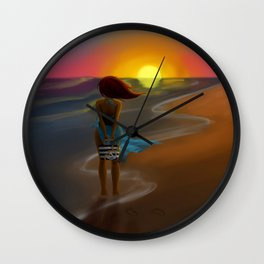 By the beautiful sea Wall Clock