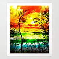 LOOK THE WORD Art Print