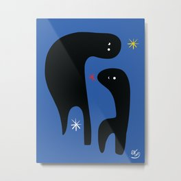 Night Creatures with Stars in the blue Sky Metal Print