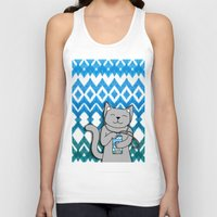 ikat Tank Tops featuring iKat iCat by micklyn