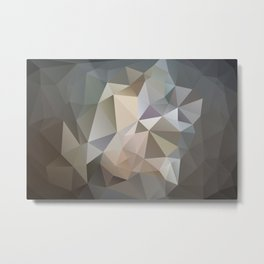"Low-Poly Digital Art ""Spring Storm"" Metal Print"