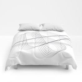 Neverending lines Comforters