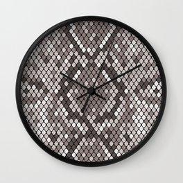 Luxury Snakeskin Pattern Wall Clock