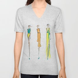 Fashion Illustration Unisex V-Neck