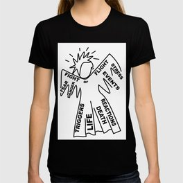 Anxiety Angel - Zine Art - Doodle T-shirt