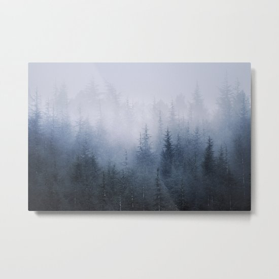 Misty fantasy forest. Metal Print