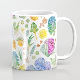 Winter Harvest Pattern White Coffee Mug