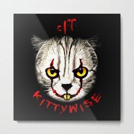 cat clown kittywise vector art Metal Print