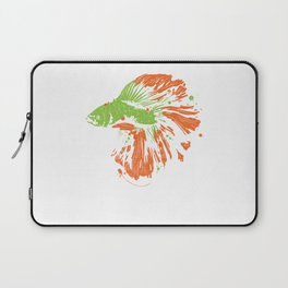 Betta Splendens Shirt Cute Bettas Siamese Fighting Fish Gift Laptop Sleeve