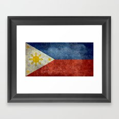 Republic of the Philippines national flag (50% of commission WILL go to help them recover) Framed Art Print
