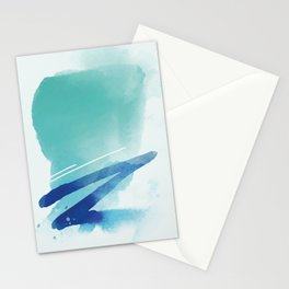 Abstract blue turquoise 1 Stationery Cards
