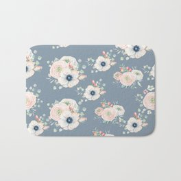 Dog Rose Pattern 3 Bath Mat