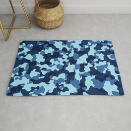 Camouflage Blue Rug