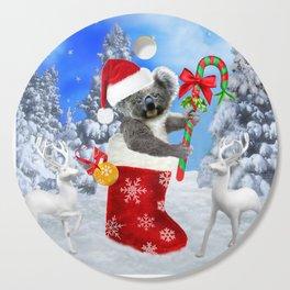 Baby Koala Christmas Cheer Cutting Board