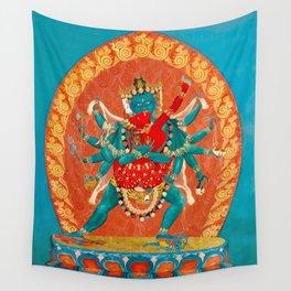 Tantric Deity Sahaja Heruka Chakrasamvara 1 Wall Tapestry