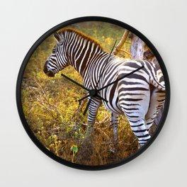 Zebra Sway Wall Clock