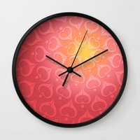 calligraphy Wall Clocks featuring Calligraphy: Love  by Joumana Medlej