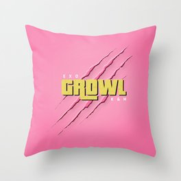 GROWL Throw Pillow