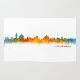 Jerusalem City Skyline Hq v2 Rug
