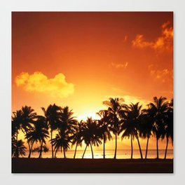 Sunset in Paradise II Canvas Print