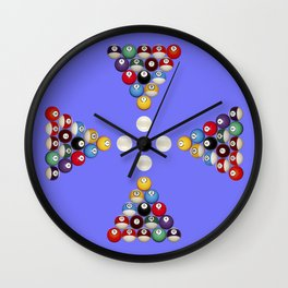 Pool Game Design V2 Wall Clock