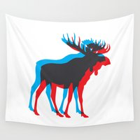 moose Wall Tapestries featuring Moose by BMaw