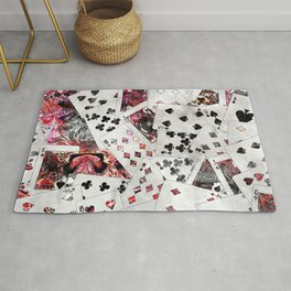 Abstract  Playing Cards Digital art Rug
