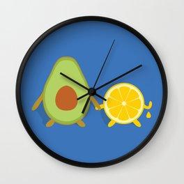 Avocado & Lemon Wall Clock
