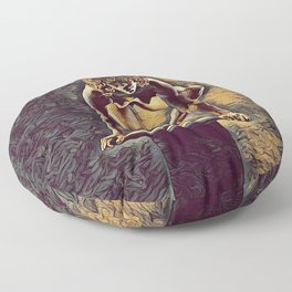 0948s-ZAC Dancer on Pedestal Poised Young Black Woman Antonio Bravo Style Floor Pillow