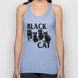 Black Cat Flag Unisex Tank Top