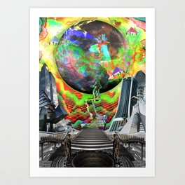 「Off The Moon」 Art Print