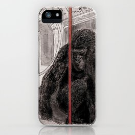 Gorilla on the Tube iPhone Case