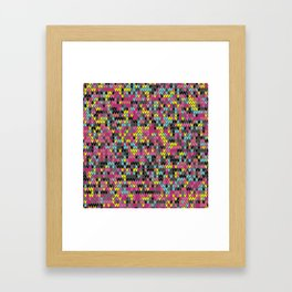 Heathered knit textile 1 Framed Art Print