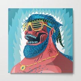 Skull Cool Metal Print