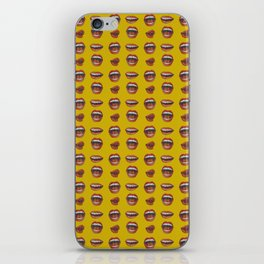 Loose Lips (on Amber Yellow Background) iPhone Skin