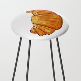 watercolor croissant Counter Stool