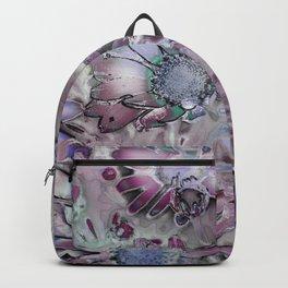 Amazing Metal Flowers Backpack